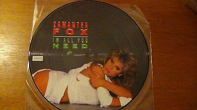 """SAMANTHA FOX """"I'm all you need"""" 12"""" Picture Disc. Rare!  FOXY S4 A"""
