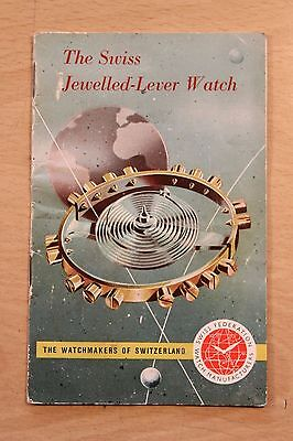 The Swiss Jewelled-Lever Watch Leaflet.