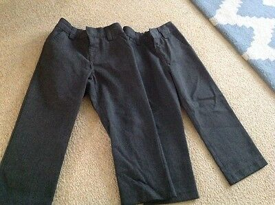 Next boys grey school trousers x 2 age 4 years