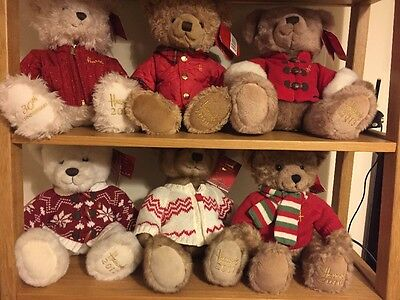 Harrods Bear Collection - 2010, 2011, 2012, 2013, 2014, 2015 (30th Anniversary)