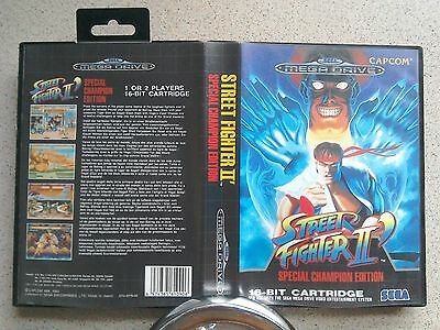 Street Fighter 2 Champion Edition BOX ONLY - For Sega Mega Drive Game (PAL)