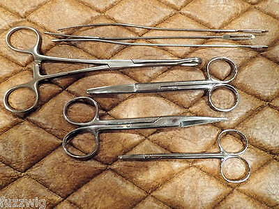 Surgical Dissecting Instruments and Stainless Cleaning Tray with lid 9 pieces