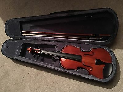 3/4 Size Violin With Case And Bow