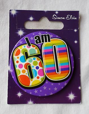 Birthday Badge  **i Am 60**