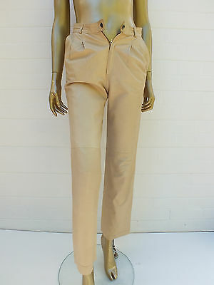 Vintage Leather Pants - High Waist Skinny Leather Pants - Butter Soft Xs Small