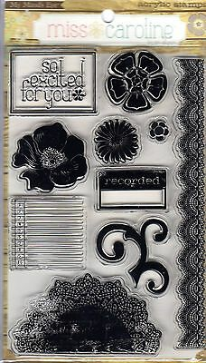 BNIP - My Mind's Eye - 'FIDDLESSTICK STORY' 10 CLING CLEAR STAMPS