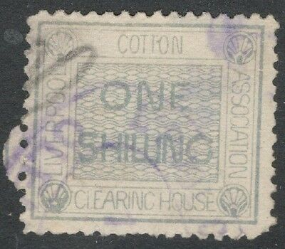 Queen Victoria - 1s Blue Green - Liverpool Cotton Clearing House -  Good,,