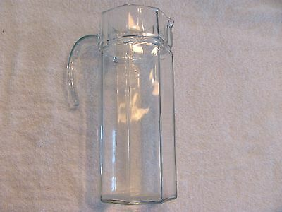 Vintage French Glass Pitcher.