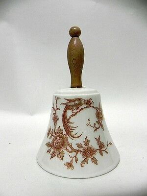 LIMOGES BELL VINTAGE PORCELAIN 1960's WOOD HANDLE #118 ABA PEACOCK France