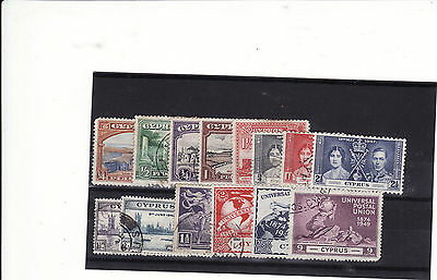 Cyprus - George V/george V1 Small Selection 14 Mainly Used Stamps Odd Mm
