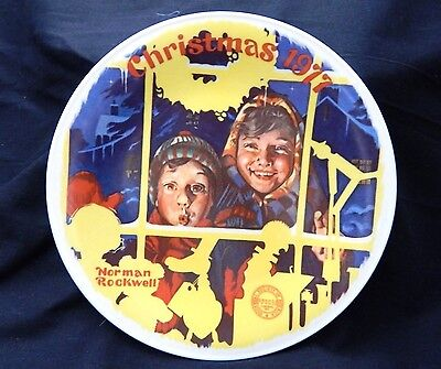 Norman Rockwell 1977 Christmas Plate by Edwin Knowles
