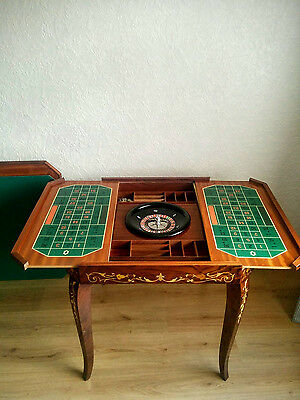 Vintage Games Table For Roulette, Backgammon, Chess And Cards,Handmade