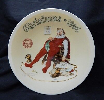 "Norman Rockwell 1996 ""And To All A Good Night"" Christmas Plate by Knowles"
