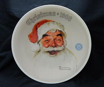 "Norman Rockwell 1988 ""Santa Claus"" Christmas Plate by Knowles"