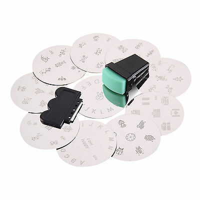 10pcs Nail Art Stamp Stencil Stamping Template Set Tool Stamper Design Kit