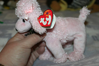 """Ty Beanie Babies Dog Poodle """"Bridgitte"""" with tag  & Label"""