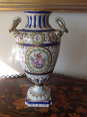 Very Rare, Heavily Decorated Large Sevres or Sevres Style Porcelain Vase