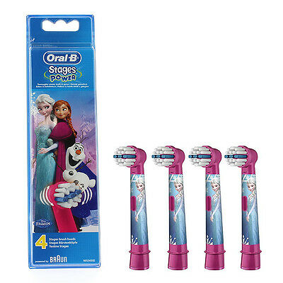 Braun Oral-B Stages Power Toothbrush Refill Heads Disney Frozen Pack of 4 Oral B