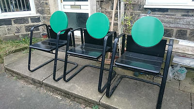 Set of 3 Stoll chairs / Retro / designer / collectable.