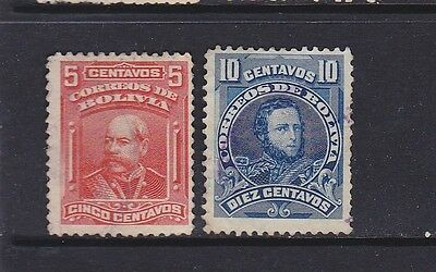 Two old stamps of Bolivia