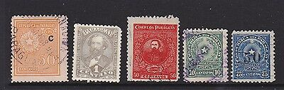Five old stamps of Paraguay