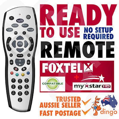 NEW FOXTEL REMOTE Control Replacement For FOXTEL MYSTAR HD & PAYTV s - Silver