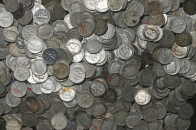 One Roll 90% Silver Roosevelt Dimes (50) 1946-1964 Worn/damaged Lot A75