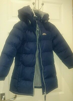 Trespass Navy Padded Coat Girl Age 5-6