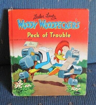 """Vintage Whitman """"Tell-A-Tale"""" Childs Story Book - Woody Woodpecker"""