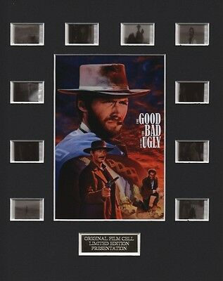 The Good The Bad and The Ugly feat Clint Eastwood (1) 35mm Film Cell Display