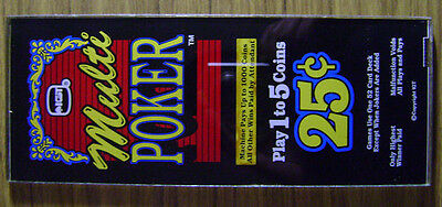 IGT. Multi Poker Insert. Used. Great Condition. Approx. 4 ¼ X 10 ½.