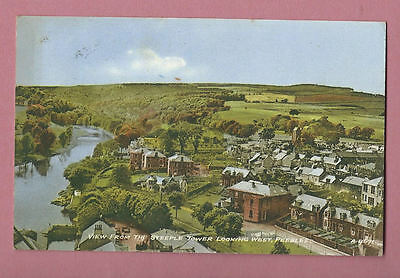 1964 Postcard - View From The Steeple Tower Looking West, Peebles