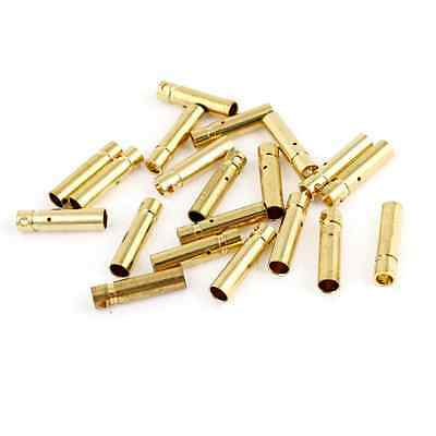 20PCS Gold Tone Metal RC Banana Bullet Plug Connector Female 3mm