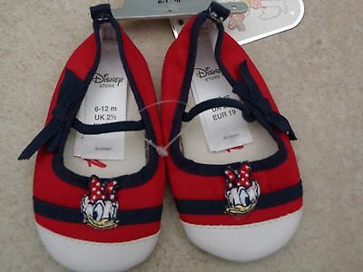 Disney Shoes Baby/Kids UK 2.5, Size 6/12 Months, Red/Blue/White, Tag Brand New.