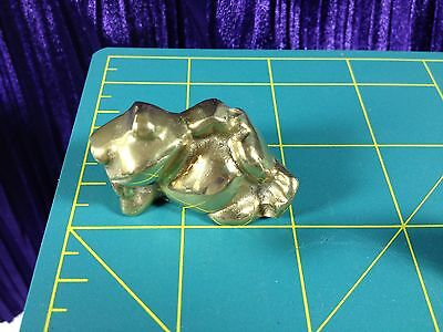 Frog Solid Brass Figurine Animal Vintage EUC Relax Tree Reptile Paperweight Gift