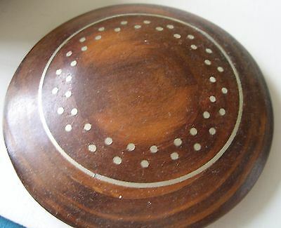 Turned Wooden Pot with Brass Inlay - Ideal Xmas Gift