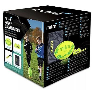 Mitre Rugby Starter Pack, Ball, Pump and Kicking Tee, Brand New In Box