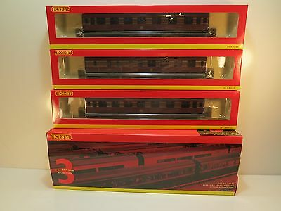 Hornby - R4588 - 3 X  LMS MAROON CORONATION COACH PACK - NEW,BOXED RARE ITEM!