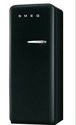 Smeg FAB28YNE1 60cm 'Retro Style' Fridge and Ice Box in Black with Left Hand Hin