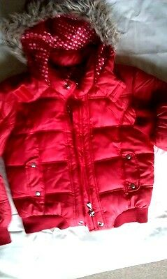 Girls Padded Winter Coat age 11-12 red GEORGE