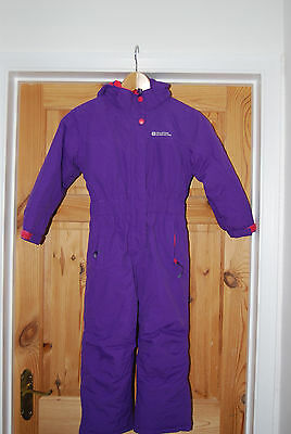 Mountain Warehouse Girls Purple All-In-One Snowsuit (5-6 Years)