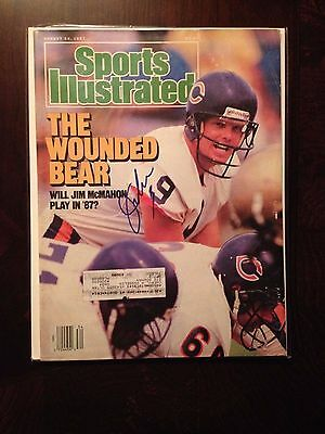 Jim McMahon Autographed Signed Sports Illustrated Magazine SI Eagles Bears BYU