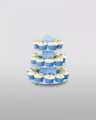 Blue Polka Dot Baby Shower party Cupcake Stand - Fun Cake Stand