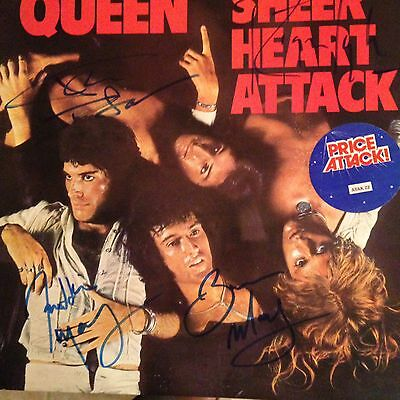 Queen Sheer Heart Attack Autographed By All 4 Original Members