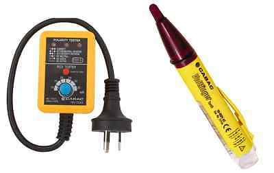 Cabac Power Point Gpo Tester V2 Rcd Trip Australia With Cabac Voltfinger Torch