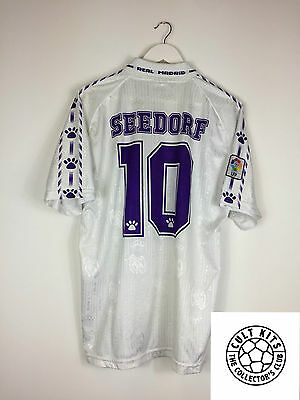 c0a10960bd0 REAL MADRID SEEDORF  10 96 97  MATCH ISSUE  Home Football Shirt (L ...