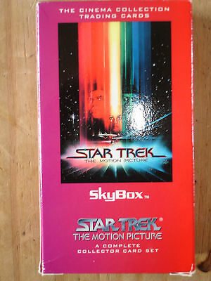 Star Trek The Motion Picture 72 Card Sets In Box