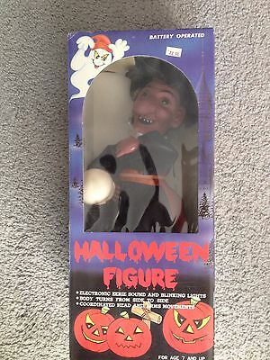 Vintage HALLOWEEN WITCH Battery Operated electronic monster MIB SEALED 1988