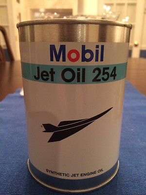 Mobil Jet Oil 254 Oil Can Bank