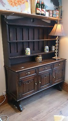 Shabby Chic Project, Oak Dresser, 3 Drawers & Cupboards, Bookcase, Sideboard
